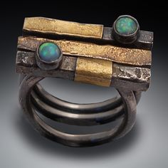 Patricia McCleery | Stacking rings, something different in a primitive zen way. | http://patriciamccleery.artspan.com/lg_view_multi.php?aid=2491174