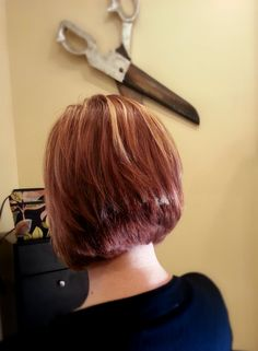 Red-Copper All Over Color with Strawberry Blonde Highlights & a Haircut  ~ By Loren Ball ~ Hairstylist ~ http://lorenball.com/ ~Central Ohio