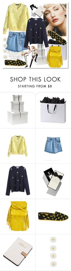 """""""Stand Collar Plain Lace Floral Cutwork Zipper Fly Baseball Jacket"""" by ilona-828 ❤ liked on Polyvore featuring Bungalow 5, Jo Malone, H&M, Cynthia Vincent, Calvin Klein, Accessorize, bhalo and bhalo3"""