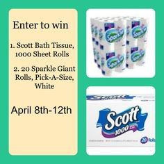 The Great CLEAN Giveaway – Scott Bath Tissue, Sparkle Paper Towels! 563736_4000273783640_931928890_n