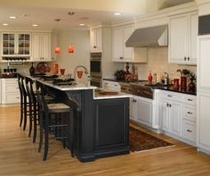 Two Tone Kitchen Cabinets Ideas Concept, with modern door design and painted with combining color like in this images picture, Victorian Brown and Black Kitchen Cabinet set (recomended picture)