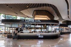 Singha Complex Interior Design by Steven J. Mall Design, Kiosk Design, Retail Design, Design Design, Lobby Interior, Cafe Interior Design, Shopping Mall Interior, Pub Decor, Coffee Shop Design