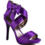 High fashion is yours in these fancy pumps from Luichiny. Mist Tee brings you a purple satin upper with a textured and layered look on the straps. A simple and chic satin bow is placed at the side to give a feminine balance, while a 4 inch heel perfects this style.