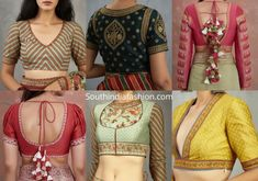 Featuring 12 unique and stylish blouse design inspirations for you if you are looking to shop readymade designer saree blouses online. Saree Blouse Designs, Blouse Patterns, Blouse Neck, Sleeveless Blouse, Designer Blouses Online, Stylish Blouse Design, Plain Saree, Creative Embroidery, Handloom Saree