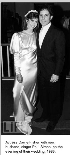 Carrie Fisher and Paul Simon-wedding, 1983.