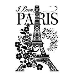 Vinilos Decorativos: I Love Paris