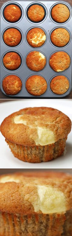 These Cream Cheese–FIlled Banana Bread Muffins Are Total Food Porn