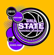 Cricket School & Team- Custom Girls State Basketball T-Shirt Design for Students and Athletes