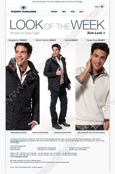 Company:  Tom Tailor AG Subject:  Look of the week MEN              INBOXVISION providing email design ideas and email marketing intelligence.    www.inboxvision.com/blog/  #EmailMarketing #DigitalMarketing #EmailDesign #EmailTemplate #InboxVision  #SocialMedia #EmailNewsletters