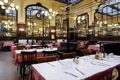 Bouillon Chartier - Traditional restaurant in Paris - a must see - plan to arrive early for supper or lunch  - there are usually huge line ups