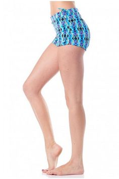 Add divine style to your workout wardrobe with the Krishna Nirvana Short from Daughters of Culture. Made of a lightweight performance fabric, in a vivid Krishna print, this short boasts dry wicking, anti microbial properties, and 4 way stretch. The adjustable side ties, allow you to scrunch these shorts up for ultra sexy style or you can lower the sides for more coverage. Wear these stylish shorts to hot yoga, swim, dance, or play in!