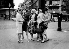 Photo of trans-women in the late 1950's living in the red light district, from the Swedish photographer Christer Strömholm's book Les Amies de Place Blanche.