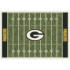 "Green Bay Packers 92"" x 129"" Homefield Rug"