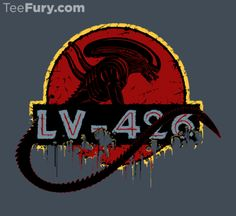 Get This Parody Jurassic Park / Aliens Design now at TeeFury.com! Available in Men and Women's sizes. @teefury