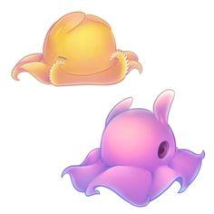 Octopus Adorabilis, Dumbo Octopus, Photo Illustration, Tatt, Winnie The Pooh, Chibi, Pikachu, Disney Characters, Fictional Characters