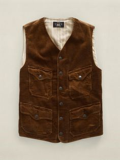 I keep seeing this vests and I keep wanting them all. Corduroy Twill Vest.