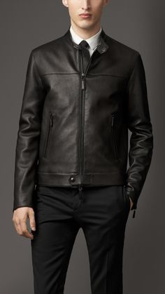 Nappa Leather Racer Jacket | Burberry
