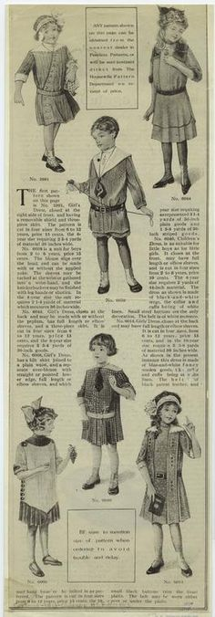 [Boys' and girls' clothing, 1910s.]         (1913)