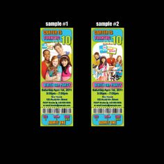 FRESH BEAT BAND TICKET STYLE INVITATIONS (WITH ENVELOPES)
