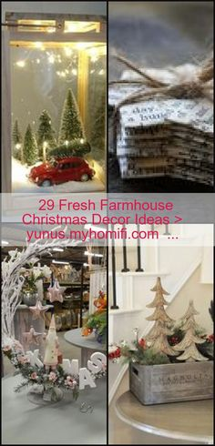 Diy Crafts Vintage, Fresh Farmhouse, Christmas Decorations, Table Decorations, Farmhouse Christmas Decor, Christen, Holiday Crafts, Decor Ideas, Check