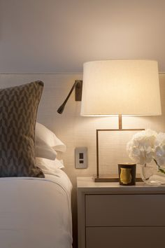 Laura Sole Interiors: Bedroom Design - this would look great in shades of any neutral or color