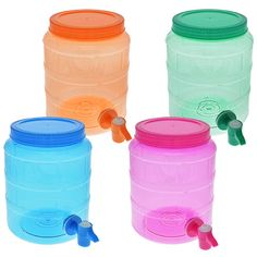 Round Plastic Water Containers with Spigots