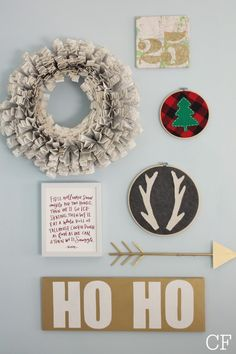 "Christmas Tour-Playful Woodland Retreat - City Farmhouse. I love the ""Elf"" quote!"