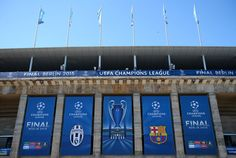 A general view of the stadium on the eve of the UEFA Champions League Final between Juventus and FC Barcelona at Olympiastadion on June 5, 2015 in Berlin, Germany.