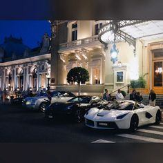 #Casino Amazing lineup at the Casino last night. Which one would you pick? #Monaco #MonteCarlo #Ferrari #LaFerrari #California #RollsRoyce #Bentley #Continental #GTC #Phantom #Drophead #Casino #Parking #Auto #Lifestyle #Luxury #Supercar #Car #VSCO #VSCOcam by john.ac.marques from #Montecarlo #Monaco