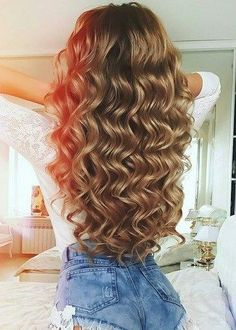 Want to wake up with curls but can& decide between spiral perm vs regular perm? We& telling you everything you need to know about spiral perm hairstyles! Church Hairstyles, Homecoming Hairstyles, Wedding Hairstyles, Face Shape Hairstyles, Cool Hairstyles, Long Permed Hairstyles, Beach Hairstyles, Gorgeous Hairstyles, Baddie Hairstyles