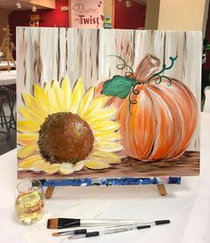 And all at once, summer collapsed into fall. -Oscar Wilde Find this event near you: Fall Canvas Painting, Autumn Painting, Autumn Art, Diy Painting, Pumpkin Painting, Fall Paintings, Canvas Painting Designs, Canvas Painting Tutorials, Decorative Paintings