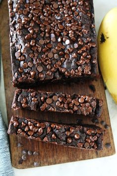 Gluten-Free Vegan Chocolate Banana Bread Recipe on twopeasandtheirpod.com You will never know this chocolate banana bread is gluten-free and vegan. It is SO rich, moist, and delicious! Everyone LOVES it!