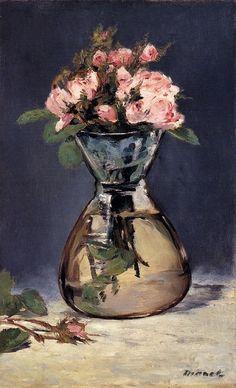 Moss Roses in a Vase, Manet