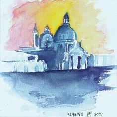 Venedig/Aquarell ©Tobias Windlinger
