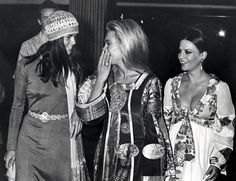 max glam. i want to be in this trio! Natalie, Dyan Cannon and Ali MacGraw