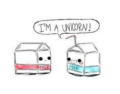 im a #unicorn!!! #milk this is so cute!