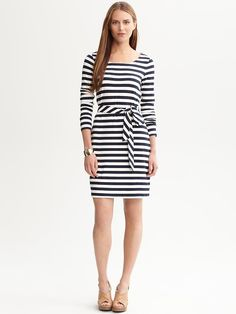 Mono striped dress from Banana Republic
