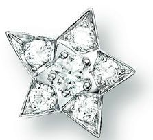 """$6200""""Chanel Fine Jewelry 18k white gold and diamond star studs"""", 733 Madison Ave."""