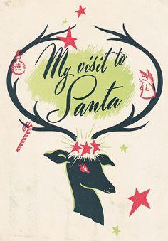 Santa photo folder 1940's