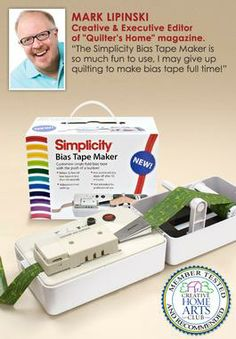 """Simplicity Bias Tape Maker  ..    Simplicity Bias Tape Marker. Create customized single fold bias tape with the push of a button! Includes 1"""" tip. See video tab for tutorial."""
