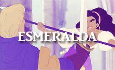 """""""Frollo saw Esmeralda as a demon. Quasimodo saw Esmeralda as an Angel. Phoebus saw her as Esmeralda. That is why Esmeralda fell in love with Phoebus."""""""