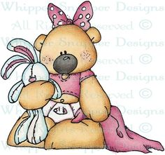 Baby Girl Bear - Bears - Animals - Rubber Stamps - Shop