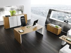 A managerial office is a place where potential business partners evaluate the company for the first time. It is important to ensure that this first impression is the best possible.  #MakeYourSpace #PeopleProcessPlace #WorkPlaceTrends #InspirationalSpaces #OfficeDesign #ManagerialOffice