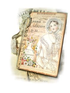 Parisian Mademoiselle Journal Paris Pocketbook Mini Journal Victorian Pink and Blue Paris Beauty Gifts For Her. $8.00, via Etsy.
