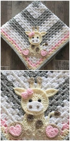Handmade Baby Blankets On Etsy With Animals Appliques These adorable Handmade Baby Blankets all feature the most adorable animal appliques! They can be made in sizes baby to adult with your choice of colors too Mermaid Baby Blanket, Baby Girl Crochet Blanket, Baby Mermaid, Baby Girl Blankets, Crochet Blanket Patterns, Baby Patterns, Blankets For Babies, Crochet Cow, Crochet Mermaid