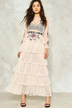 fa44e1c34b Tier It Up Ruffle Maxi Dress Pink Ruffle Dress