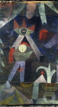 Paul Klee (1879-1940) Werk uit die periode werd in de jaren twintig en dertig als te kinderlijk ervaren , maar later herkend en erkend als baanbrekend. Dat blijkt ook uit de grote invloed die Klee heeft gehad op vele kunstenaars in de jaren vijftig waaronder een aantal CoBrA kunstenaars.