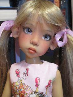 Hope by Kaye Wiggs Black Freckles, Big Eyes Artist, Kawaii Doll, Polymer Clay Dolls, Cute Teddy Bears, Doll Repaint, Doll Maker, Bjd Dolls, Ball Jointed Dolls