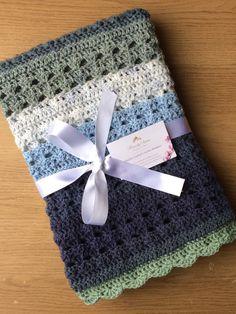 Handmade Crochet Baby Boy Blanket, Unique Pattern, Great gift idea, Fits a cot. Baby Boy Crochet Blanket, Baby Scarf, Baby Boy Blankets, Crochet Baby Clothes, Knitted Baby Blankets, Baby Boys, Handgemachtes Baby, Baby Boy Gifts, Crochet Braid Pattern