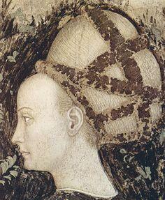 Antonio Pisanello (1395-1455) Saint George, the dragon and the princess of Trebizond (Trabzon, Turkey) - fresco Verona, Church of  Sant' Anastasia